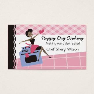 カスタムな色のアフリカ系アメリカ人の女性のオーブンの料理 名刺
