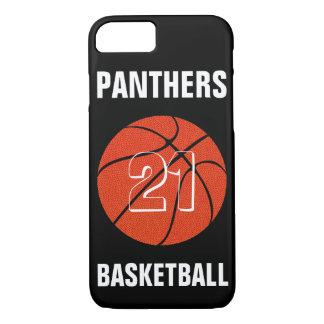 カスタムな色のバスケットボールのiPhoneの場合カバー iPhone 8/7ケース