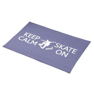 カスタムな色のランチョンマットの平静及びスケートを保って下さい ランチョンマット