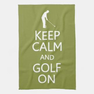 カスタムな色の台所タオルの平静及びゴルフを保って下さい キッチンタオル