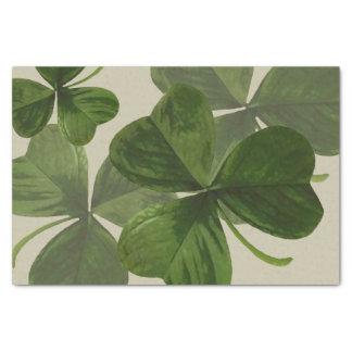 カスタムな色の植物のシャムロックの写真 薄葉紙