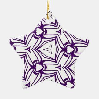 カスタムな色の紫色の目まぐるしいデジタル芸術 セラミックオーナメント