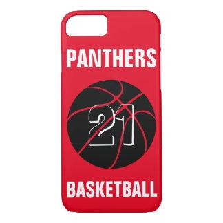 カスタムな色の黒のバスケットボールのiPhoneの場合カバー iPhone 8/7ケース