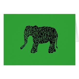 カスタムな色のaText種族象の挨拶状 カード