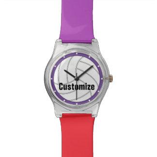 カスタムな色はバレーボールの腕時計をからかいます 腕時計