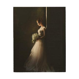 カスタムな花嫁のポートレート ウッドウォールアート