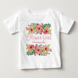 カスタムな花柄 ベビーTシャツ