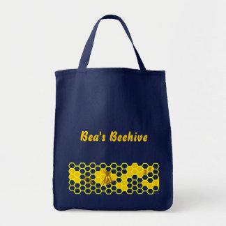 カスタムな蜂および蜜蜂の巣パターントートバック トートバッグ