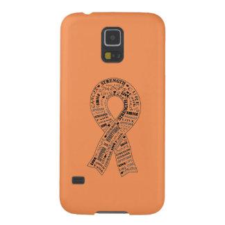カスタムな蟹座の認識度の電話箱-オレンジ GALAXY S5 ケース
