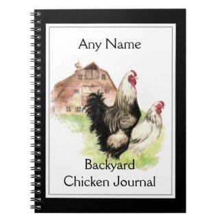 カスタムな裏庭の鶏ジャーナル水彩画 ノートブック