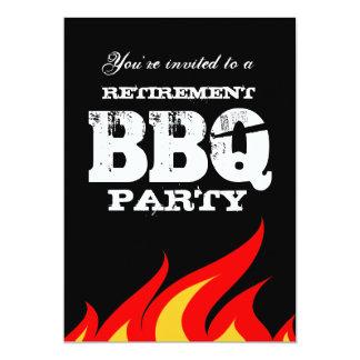 カスタムな裏庭BBQの退職のパーティの招待状 12.7 X 17.8 インビテーションカード
