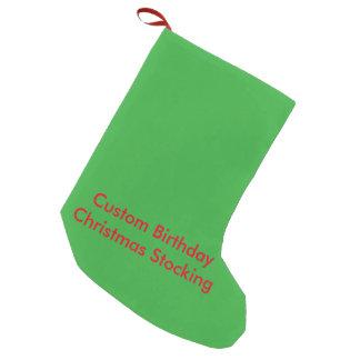 カスタムな誕生日のクリスマスのストッキング スモールクリスマスストッキング