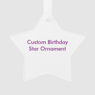 カスタムな誕生日の星のオーナメント オーナメント