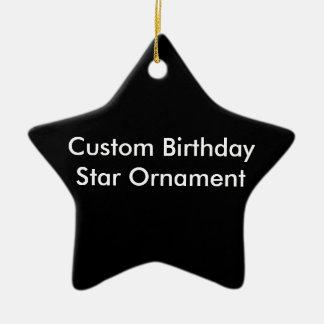 カスタムな誕生日の星のオーナメント セラミックオーナメント