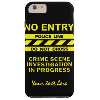 カスタムな警察の警戒線カスタムな電話箱 TOUGH iPhone 6 PLUS ケース