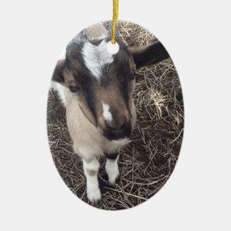 カスタムな赤ん坊のヤギのオーナメント セラミックオーナメント