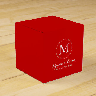 カスタムな赤モノグラムの好意箱 フェイバーボックス