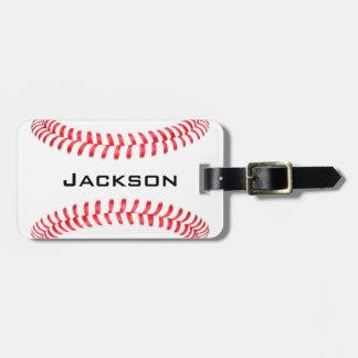 カスタムな野球の荷物のラベル ラゲッジタグ