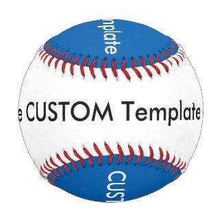 カスタムな野球、正規のサイズの青及び白 野球ボール