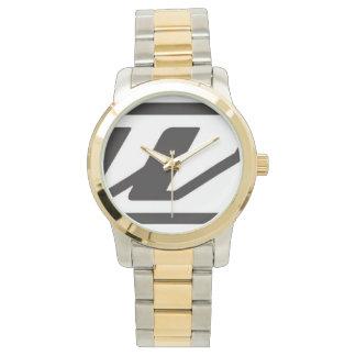 カスタムな金ゴールドおよび銀製の調子の腕時計(2調子) 腕時計