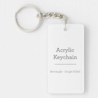 カスタムな長方形のKeychain 長方形(片面)アクリル製キーホルダー