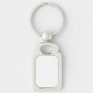 カスタムな長方形Keychain シルバーカラー長方形キーホルダー