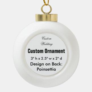 カスタムな陶磁器の球のぶら下がったなオーナメント(ポインセチア) セラミックボールオーナメント