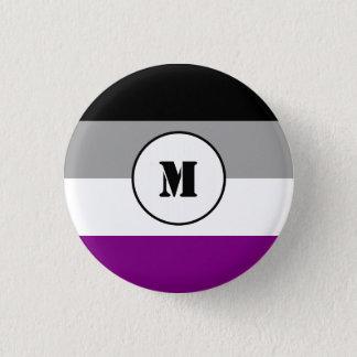 カスタムな非性愛の旗ボタン 3.2CM 丸型バッジ