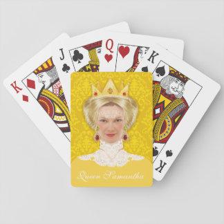 カスタムな顔の演劇カードを持つ女王 トランプ