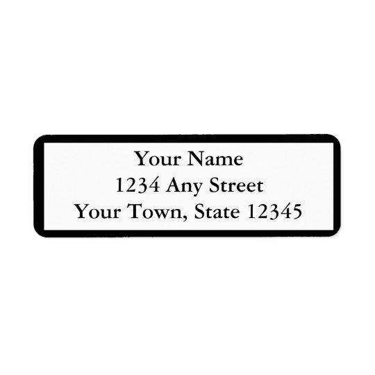 カスタムな黒によって印刷される差出人住所ラベル 返信用宛名ラベル