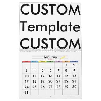 カスタムな2ページのカレンダー、例外的なカスタム化! カレンダー