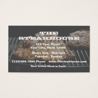 (カスタムな)レストラン-ステーキの写真w/transparence 名刺