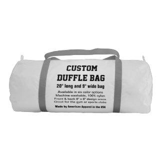 """カスタムなDuffleバッグの白い体育館、スポーツは、協力させます20""""をx 9"""" ジムバッグ"""