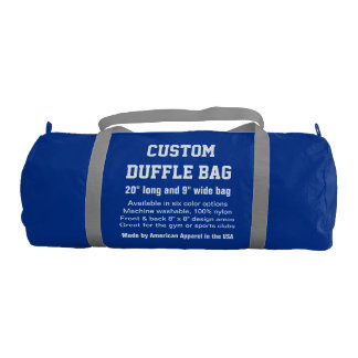 """カスタムなDuffleバッグの青い体育館、スポーツは、協力させます20""""をx 9"""" ジムバッグ"""