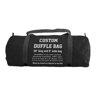 """カスタムなDuffleバッグの黒の体育館、スポーツは、協力させます20""""をx 9"""" ジムバッグ"""