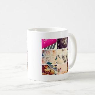 カスタムなInstagramの写真のコラージュのコーヒー・マグ コーヒーマグカップ