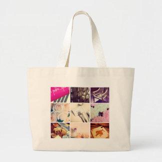 カスタムなInstagramの写真のコラージュのジャンボトートバック ラージトートバッグ