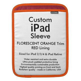 カスタムなiPadの袖-垂直(オレンジ及び赤い) iPadスリーブ