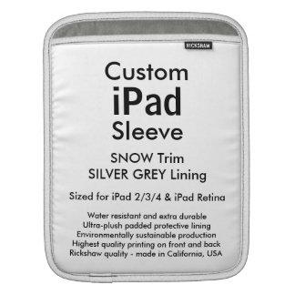 カスタムなiPadの袖-垂直(雪及び銀製灰色) iPadスリーブ