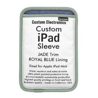 カスタムなiPad Miniスリーブ-ヒスイ及びロイヤルブルー iPad Mini スリーブケース