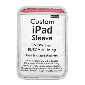 カスタムなiPad Miniスリーブ- (雪及び暗い赤紫色) iPadミニ スリーブ
