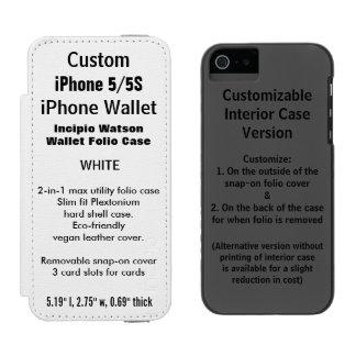 カスタムなiPhone 5/5S Watson™の財布のフォリオの箱の白 Incipio Watson™ iPhone 5 ウォレット ケース