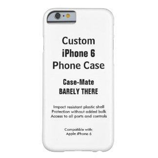 カスタムなiPhone 6のやっとそこに電話箱 Barely There iPhone 6 ケース