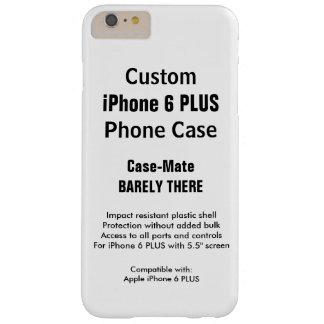 カスタムなiPhone 6のプラスのやっとそこに電話箱 Barely There iPhone 6 Plus ケース