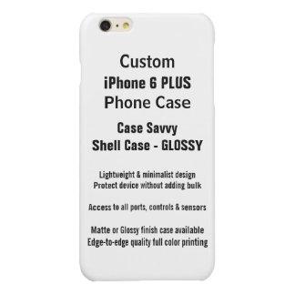 カスタムなiPhone 6のプラスの光沢のある場合の精通した薬莢