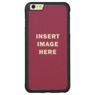 カスタムなiPhone 6のプラスの豊富な木製の場合のテンプレートDIY CarvedメープルiPhone 6 Plusバンパーケース