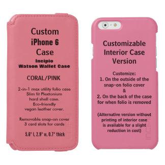 カスタムなiPhone 6のWatson™の財布のフォリオの箱のピンク Incipio Watson™ iPhone 6 ウォレットケース