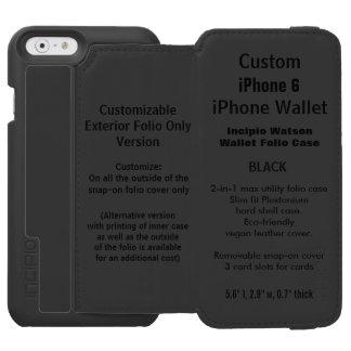 カスタムなiPhone 6のWatson™の財布のフォリオの箱の黒 Incipio Watson™ iPhone 5 財布型ケース