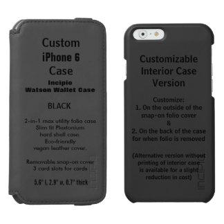 カスタムなiPhone 6のWatson™の財布のフォリオの箱の黒 Incipio Watson™ iPhone 6 ウォレットケース