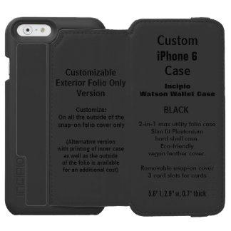 カスタムなiPhone 6のWatson™の財布のフォリオの箱の黒 Incipio Watson™ iPhone 6 財布ケース